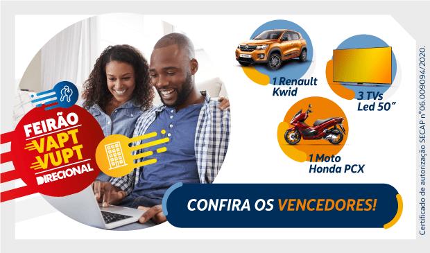 Feirão Vapt Vupt: confira o resultado do sorteio Riva Incorporadora